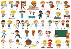 Large set of simple characters. Illustration royalty free illustration