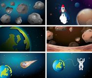 Large set of space backgrounds. Illustration vector illustration