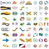 Large set of symbols Royalty Free Stock Images