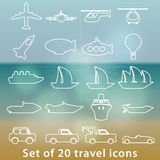 Large set of transportation icons Royalty Free Stock Images