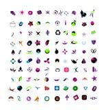 A large set of vector logos illusrtration Stock Photos