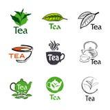 Set logo tea Royalty Free Stock Image
