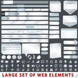 Large set of web design elements. Vector large set of web design elements Stock Photos