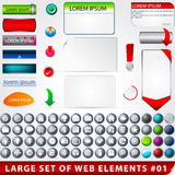 Large set of web elements Royalty Free Stock Photography