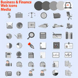 Large set of web icons. Business, Finance Media,. Vector large set of web icons. Business, Finance Media. EPS 10 Stock Images