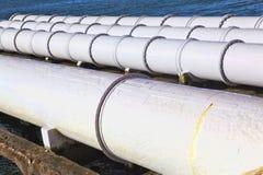 Large sewage pipes Stock Photography
