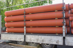 Large sewer pipes Royalty Free Stock Images