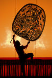 Thai performance art - Large Shadow Play Royalty Free Stock Images