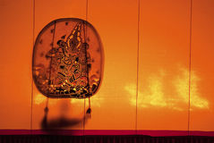 Thai performance art - Large Shadow Play Stock Photos