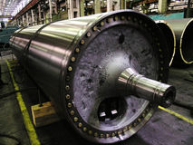 Large shaft in the shop engineering plant Royalty Free Stock Image