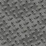 A large sheet of nice shiny chrome tread plate Royalty Free Stock Photo