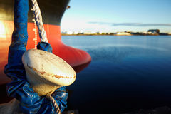 Large ship in dock Royalty Free Stock Photos