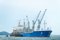 Large ship on sea. In thailand Stock Image