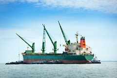 Large ship on sea Stock Images