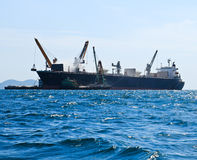 Large ship on sea Stock Photography