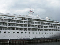 Passenger ship. The large white cruise liner (big ship). Tourism. Journey. Travel by ship Stock Photography