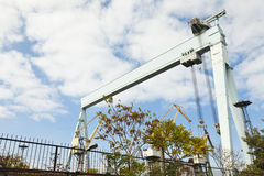 Large shipbuilding crane Royalty Free Stock Photo
