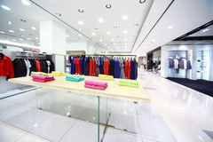 Large shop with masculine clothes Stock Photography