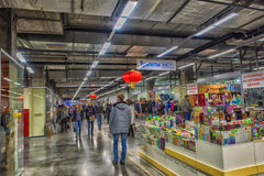 A large shopping mall corridor Royalty Free Stock Photography
