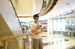 The large shopping mall, the interior landscape. In Shenzhen Baoan Xixiang, China Royalty Free Stock Photography