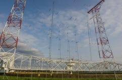 Large shortwave transmitting system. In nature Stock Photography