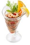 Large shrimp cocktail isolated on white background Stock Photography