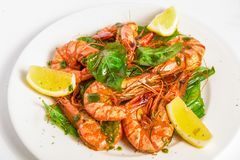Large shrimp Stock Images