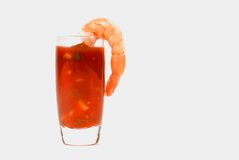 Large shrimp on a glass Stock Image