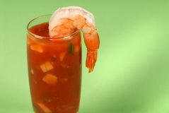 A large shrimp on a glass Stock Image