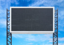 Large sign board with blue sky Royalty Free Stock Photography