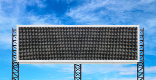 Large sign board with blue sky Royalty Free Stock Photo