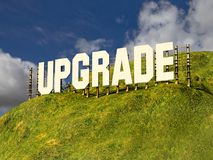 Large sign with single word UPGRADE royalty free stock images