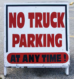 No Truck Parking Sign Stock Photography
