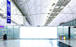 Large signboard in airport departure area Royalty Free Stock Photography
