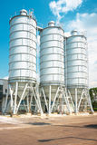 Large silos outdoors Stock Image