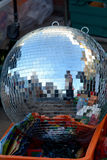Large silver glitter ball for sale Stock Photography