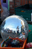 Large silver glitter ball for sale Royalty Free Stock Photos