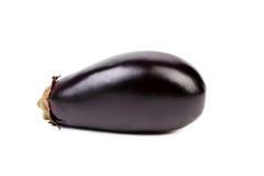Large single eggplant isolated on white Royalty Free Stock Photos