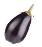 Large single eggplant. Royalty Free Stock Image