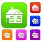 Large single-storey house set collection Stock Image
