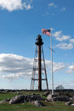 Large Skeletal Lighthouse Tower in Massachusetts Stock Photos