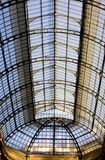 Large skylight. Glazed with support structure in iron Stock Photos