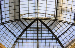Large skylight. Glazed with support structure in iron Royalty Free Stock Photography