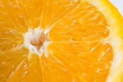 Large Slice of Orange Close Up  on White Background. Large Slice of Orange Close Up  on a White Background Stock Photography