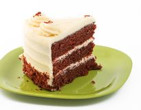 Large Slice of Red Velvet Cake Stock Images