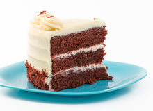 Large Slice of Red Velvet Cake Royalty Free Stock Photo