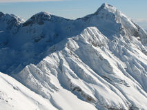 Large slopes covered with snow Stock Image