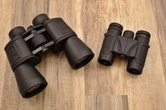 Large and small binocular Royalty Free Stock Images