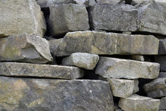 Large and small blocks of granite . Royalty Free Stock Image