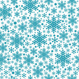 Large and small blue snowflake seamless Royalty Free Stock Image